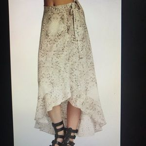 BCBGeneration floral wrap skirt